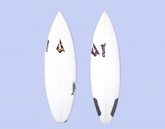 JUSTICE SURFBOARD LOGO DECAL by JUN WATANABE