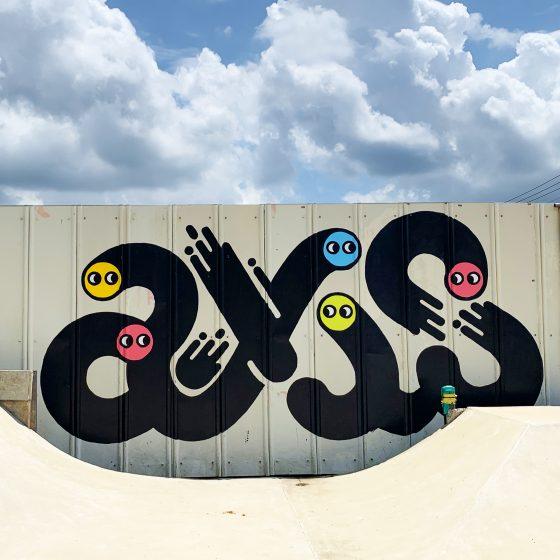 AXIS SKATEBOARD PARK 壁画