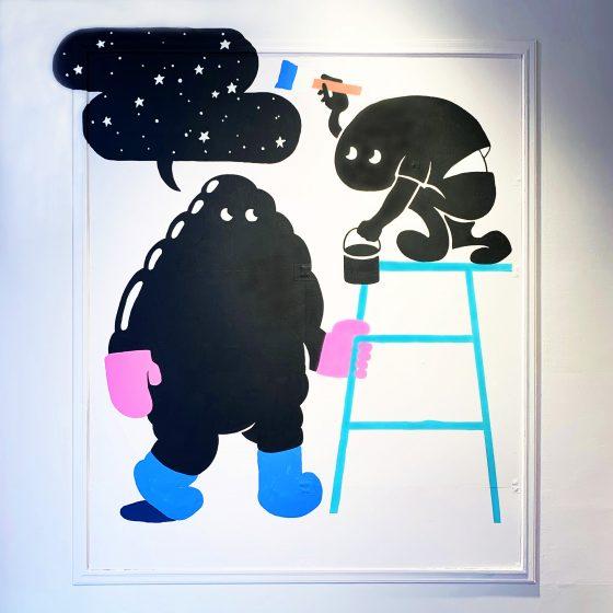 Benjamin Moore (ベンジャミンムーア)青山店壁画